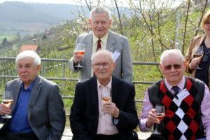 Vordere Reihe von links nach rechts: Benjamin Zysman, Jerzy Wojciewski, Boleslaw Urbanski, dahinter: Eugeniusz Dabrowski