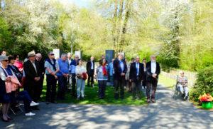 Rund 60 Bürger besuchten die Gedenkfeier